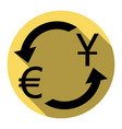 currency exchange sign dollar and euro vector image