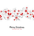 merry christmas new year holiday decoration card vector image