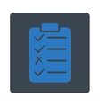 Task List Icon from Commerce Buttons OverColor Set vector image