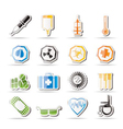 simple medical themed icons and warning-signs vector image