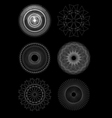 set of spirograph for design vector image vector image