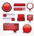 Blank red web buttons for website or app vector image
