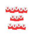 happy new year text of red letters vector image