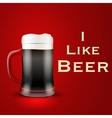 I like beer vector image