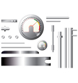 metal measuring elements and pipes - set vector image