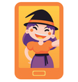 Witch Taking a Selfie vector image