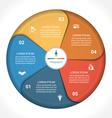 Business pie chart diagram data 5 vector image