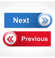 Next and Previous Buttons vector image vector image