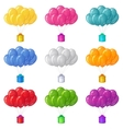 Balloons with a gift boxes set vector image vector image