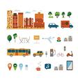 City elements clip art vector image