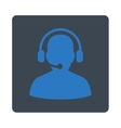 Telemarketing Icon from Commerce Buttons OverColor vector image