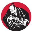 japanese samurai warrior vector image