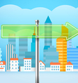 Cityscape with the glass board City trafic Direct vector image