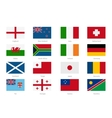 Flags in flat style England and Wales Scotland vector image