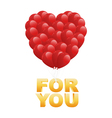 for valentine card vector image