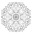 Mandala Hand drawn oriental decorative element vector image