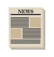 Newspaper isolated flat icon vector image