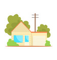 suburban family house cartoon vector image