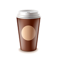 Take away coffee isolated vector image