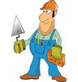 builder cartoon vector image vector image
