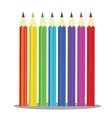 Set of Coloured pencils - on white vector image