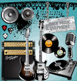 rock music equipment vector image