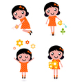 Gardener girl set vector image