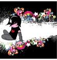 emo kid vector image