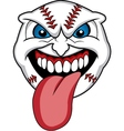 baseball face vector image