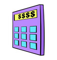 calculator icon cartoon vector image