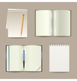 Notebook Realistic Set vector image