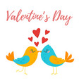 valentines day greeting romantic card vector image