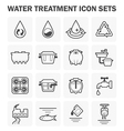 Water treatment vector image
