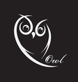 owl design vector image vector image