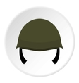 Military helmet icon flat style vector image