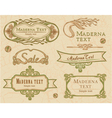 Modern vintage items set vector image