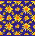 seamless watercolour sunflowers pattern on blue vector image