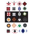 creative symbols design elements collection vector image
