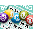bingo balls on a card background vector image