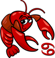 cancer or the crab zodiac sign vector image
