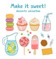 Make it sweet vector image