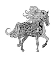 Zentangle stylized Black Horse Hand Drawn doodle vector image
