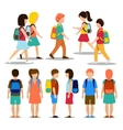 Kids going to school vector image