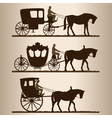 carriages silhouettes vector image