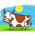 cartoon of farm cow vector image