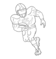 American football player with a ball vector image