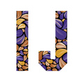 Beautiful floral alphabet letters I and J vector image