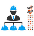 builder management icon with love bonus vector image