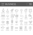 business icons concept vector image