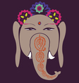 Ganesh and lotuses happiness symbol vector image